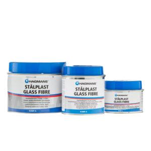 Klaaskiud pahtel Hagmans Stålplast Glass Fibre (0,18L ja 0,55L) on tugev 2-komponendiline polüester pahtel. Sobib auto roosteaukude, lehtmetalli kahjustuse või plastiku kahjustuse parandamiseks