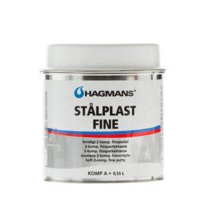 Pahtel peen Hagmans Stalplåst Fine 0,18L on 2-komponendiline pahtel. Pahtel on sile ja kergesti lõigatav, andes tiheda ja poorse pinna.