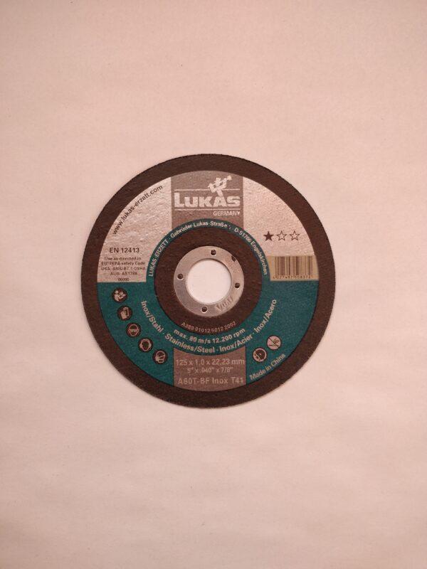 Inox lõikeketas LUKAS 125 x 1 x 22,23mm