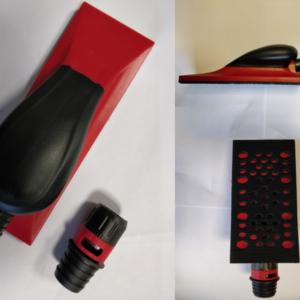 Lihvklots plastikust 70x200 punane aukudega krõps